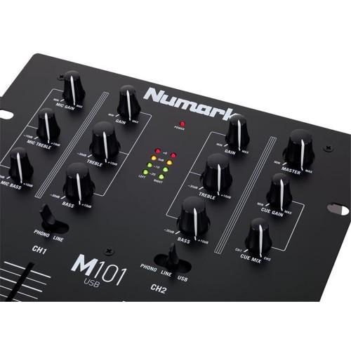 NUMARK M101 BLACK USB 2-CHANNEL USB DJ MIXER